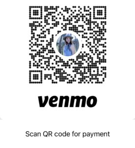 Venmo QR Code to make a payment